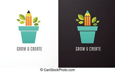 Erwachsene Idee - Konzept Ikone der Bildung, Bleistift, Wissenschaft.