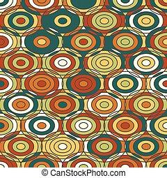 Ethnische farbige Ornamente mit Kreisen