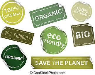 etiketten, eco-freundlich