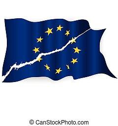 EU-Flagge zerrissen.