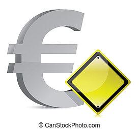 Euro-Warnzeichen Gelb