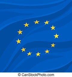 Europäische Union Flagge oder Banner von Europa