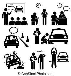 Führerschein von der Fahrschule.