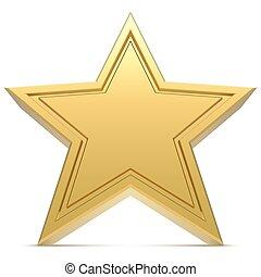 Fünf-Punkt-Sterne isoliert auf weißem Hintergrund.