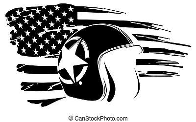 fahne, denkmal, usa, veteran, amerika, kunstwerk, tag, unabhängigkeit