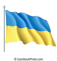 Fahne der Ukraine.
