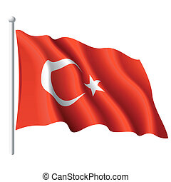 Fahne des Truthahns.