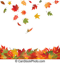 Fallende Blätter