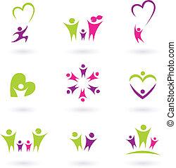 Familie, Beziehung und Leute Icon-Sammlung