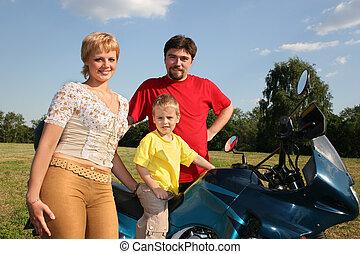 Familie und Rad zwei