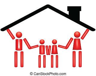 Familienzusammengehörigkeit im Haus
