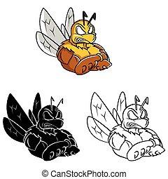 Farbbuch Biene starke caracter