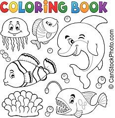 Farbbuch Meeresfauna Thema 1.