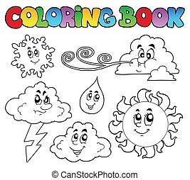 Farbbuch mit Wetterbildern