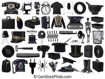 Farbe schwarzer Gegenstände