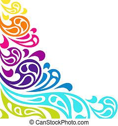 Farben splash Wellen abstrakter Hintergrund.