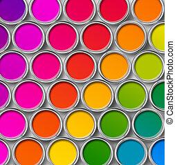 Farbfarbe-Binn-Töne-Töne, oberer Ausblick