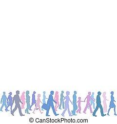 Farbgruppen gehen Richtungsführer