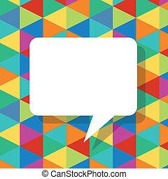 Farbige abstrakte Vorlage mit Sprachbläschen