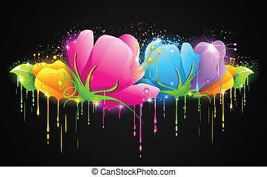 Farbige Blume.