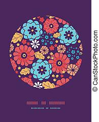 Farbige Blumenstraußblumen kreisförmige Dekormuster