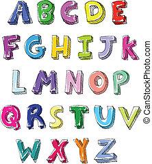 Farbige Briefe geschrieben