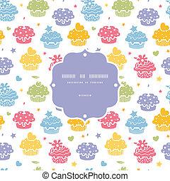 Farbige Cupcake-Party nahtlos im Hintergrund