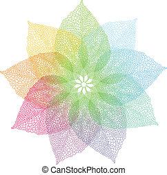 Farbige Frühlingsblätter, Vektor