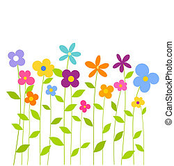 Farbige Frühlingsblumen