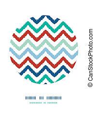 Farbige ikat chevron-Strang-Kreis-Kreislauf-Hintergrund