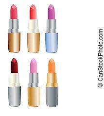 Farbige Lippenstifte
