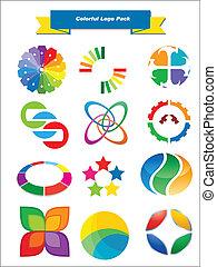 Farbige Logopackung