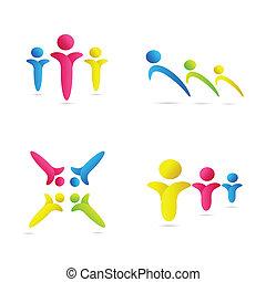 Farbige menschliche Symbole
