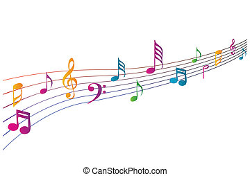 Farbige Musik-Ikonen