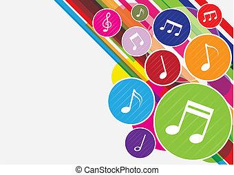Farbige Musik macht Hintergrund