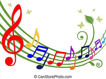 Farbige musikalische Noten