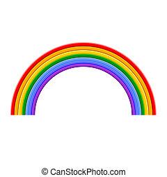 Farbige Regenbogenvektor-Illustration