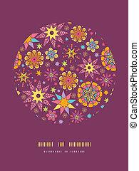 Farbige Sterne kreisen die Dekoration Muster Hintergrund Vorlage.