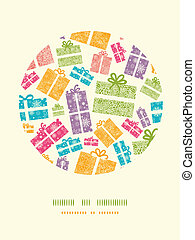 Farbige Texturier-Geschenkfächer kreisförmigen Musterhintergrund