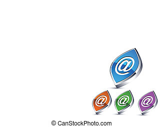 Farbige Web-Ikonen