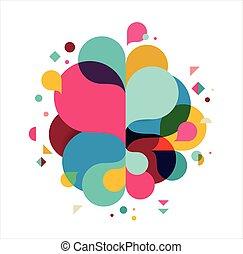 Farbiger abstrakter Hintergrund, Poster, mit splash Regenbogenfarbe, Vektorkonzept Design.