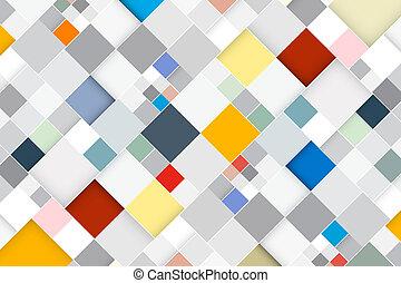 Farbiger Vektor abstrakter Quadrat Retro - moderner Hintergrund.