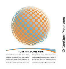 Farbiges digitales Globus-Design.