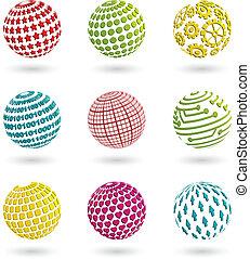 Farbplaneten-Ikonen