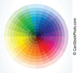 Farbräder. Vektor Illustration