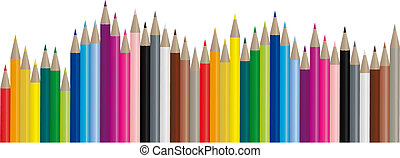 Farbstifte - Vektorbild