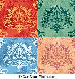 Farbvariationen klassischer Dekorelemente