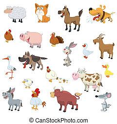 Farmtiere bereit