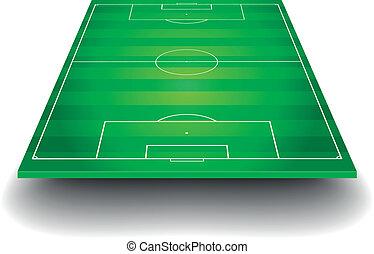 feld, fußball, perspektive
