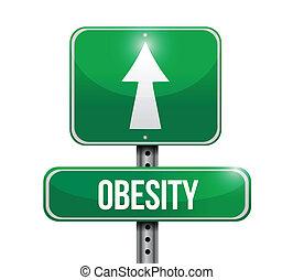 fettleibigkeit, design, straße, abbildung, zeichen
